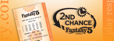 2nd Chance Fantasy 5, calottery ticket