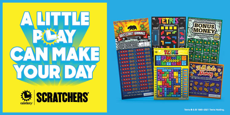 A little play can make your day next to five new scratchers games
