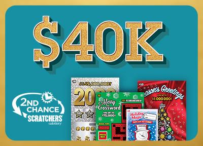 $40K 2nd Chance Scratchers, calottery