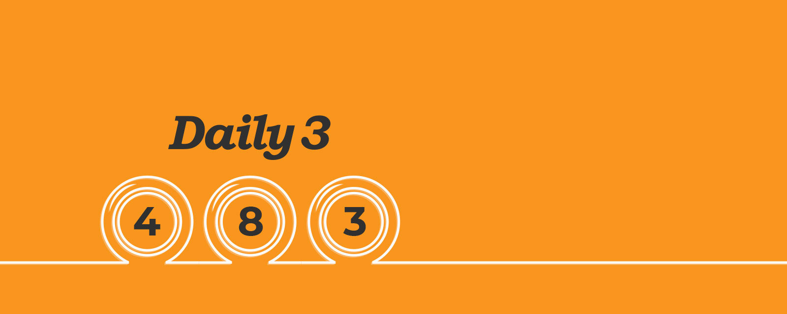 Three numbered balls with an orange background.