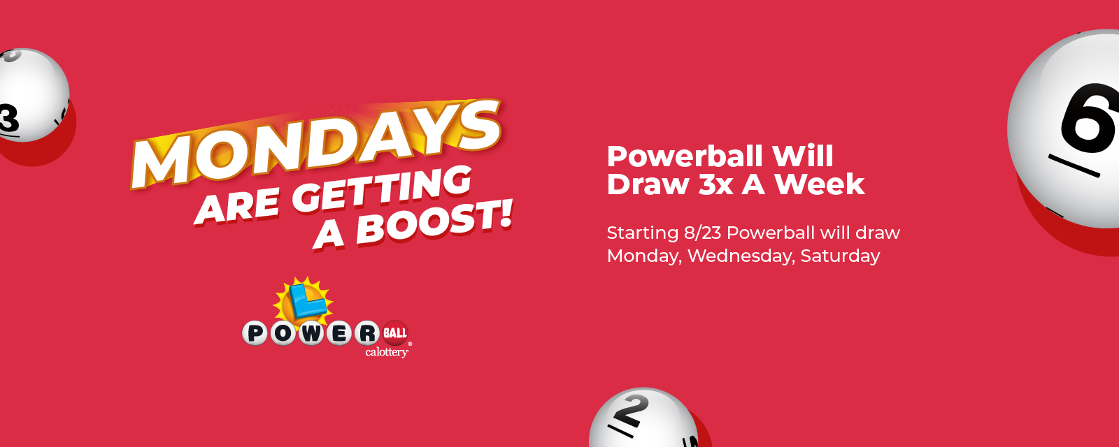 powerball is getting a boost. New Monday draw starting august 23