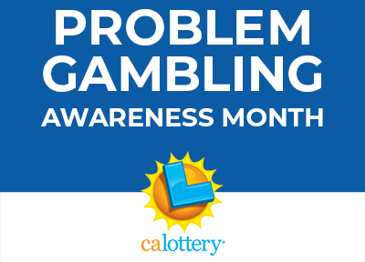 problem gambling month on blue background