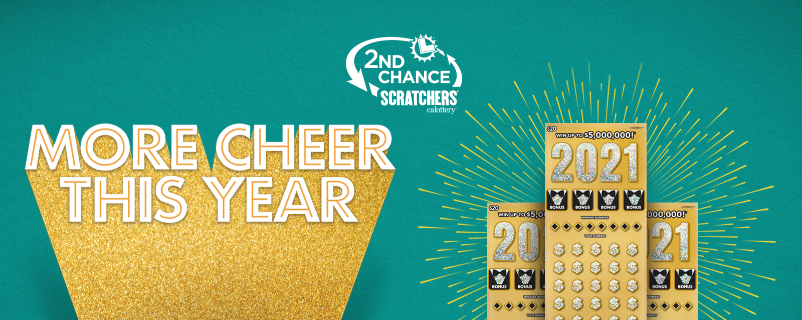 2nd Chance Scratchers logo on green background