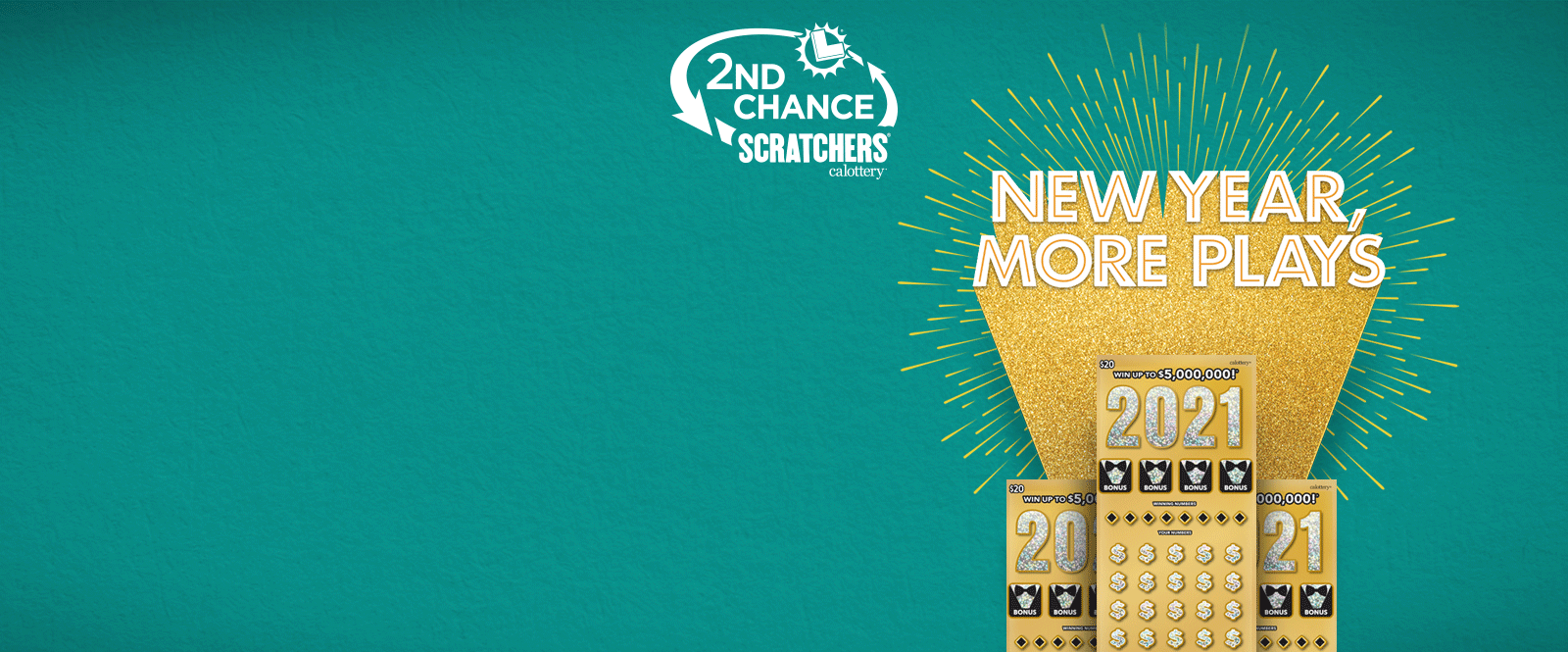 2nd Chance Scratchers logo on green background