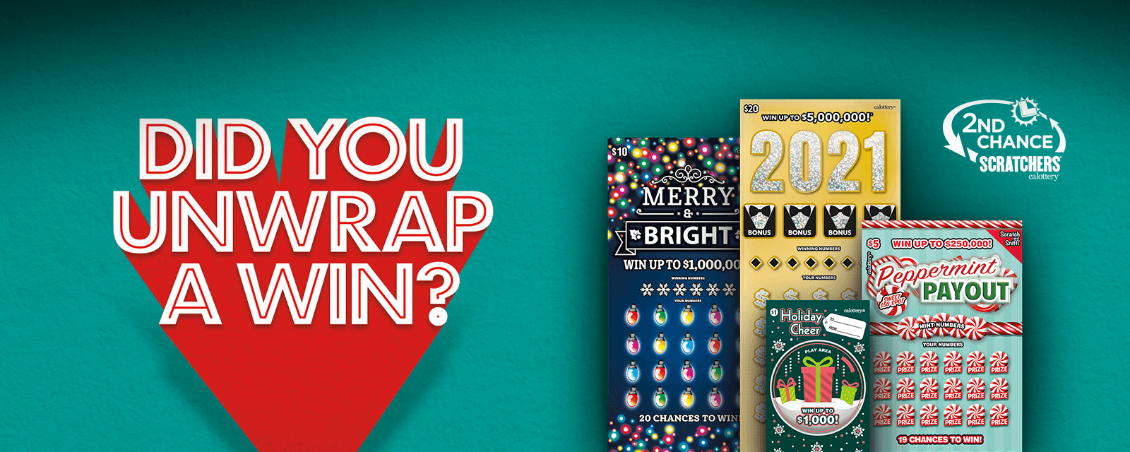 Holiday Scratchers Promo Ended Message on green background