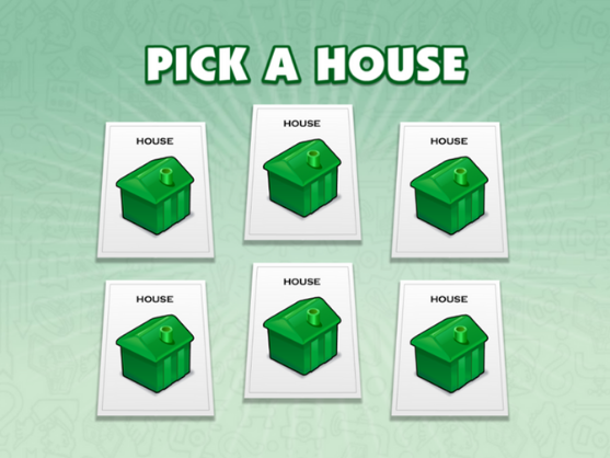 Monopoly game green houses