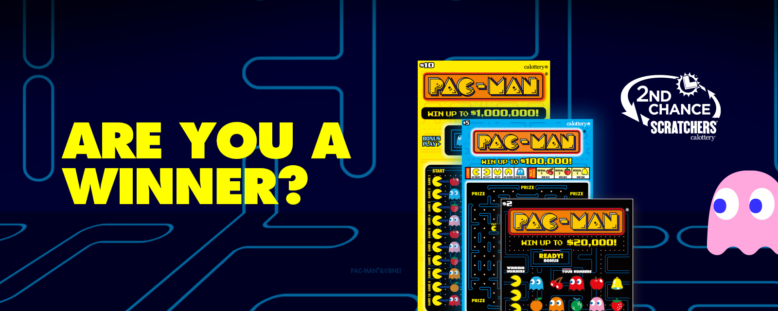 PAC-MAN Scratchers 2nd Chance Promo Ended
