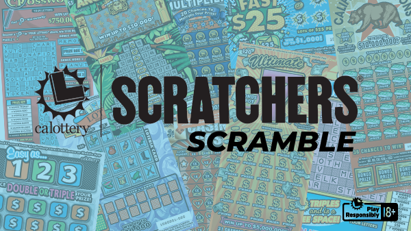 Scratchers Scramble Game Text On Background Of Various Scratchers