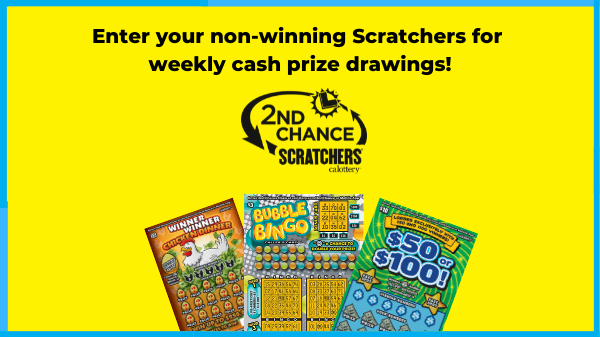 Enter your non-winning scratchers for weekly cash prize drawings  showing 3 scratchers