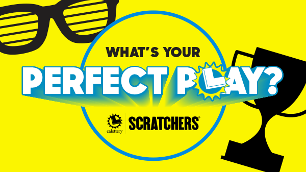 Whats your perfect play - scratchers on yellow background