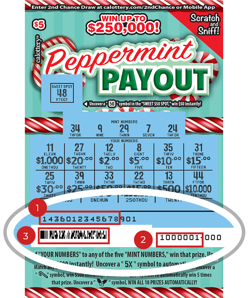 $5 Peppermint Payout Scratchers