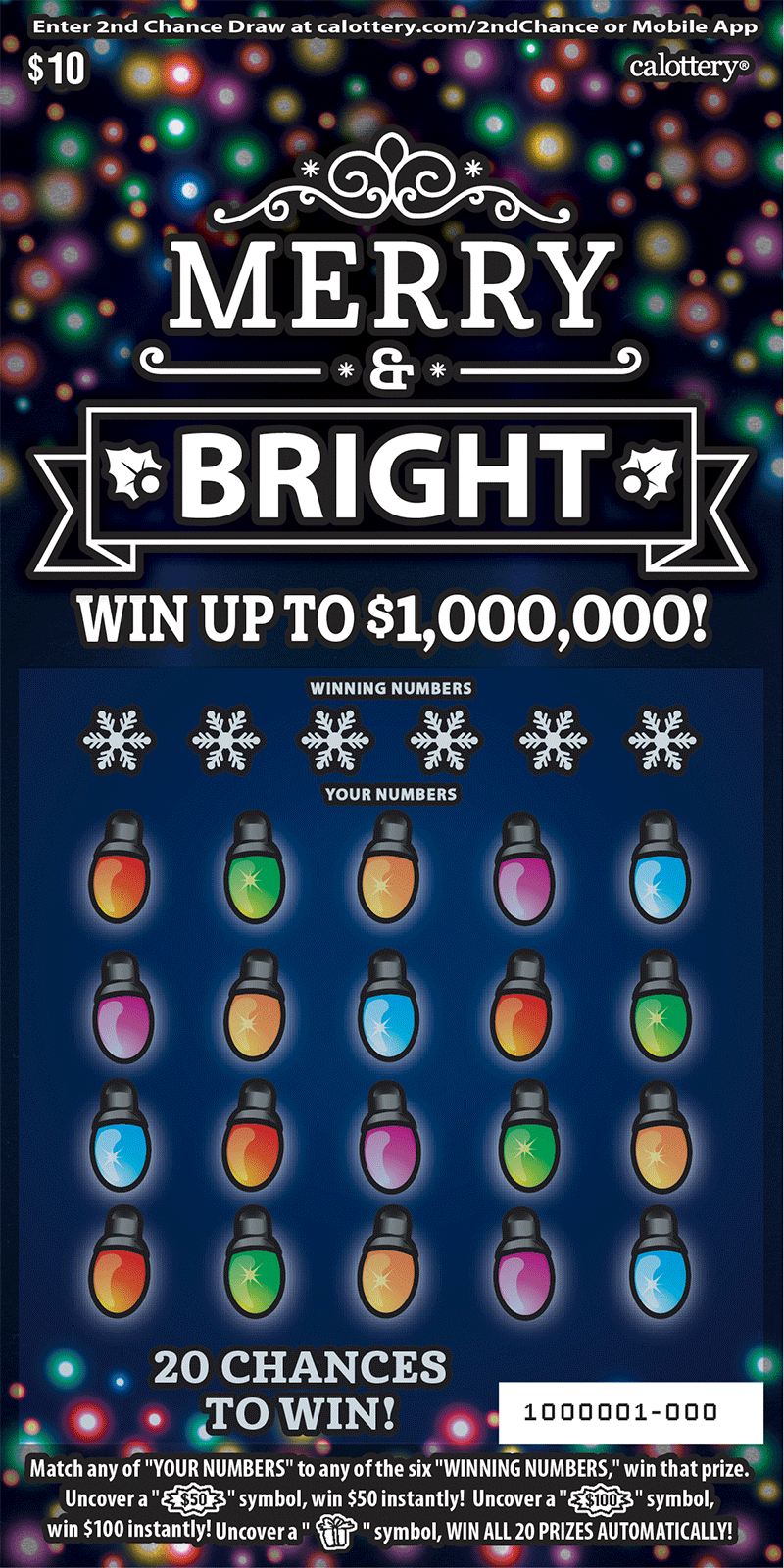 $10 Merry & Bright Scratchers