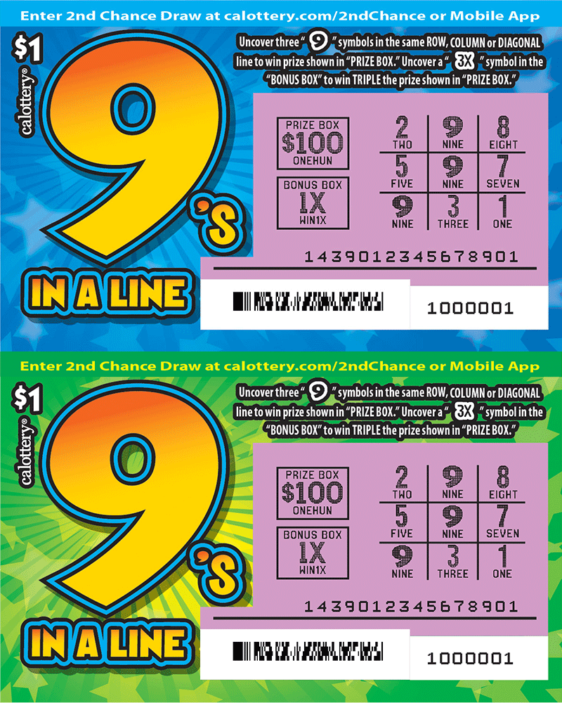 $1 9's in a Line