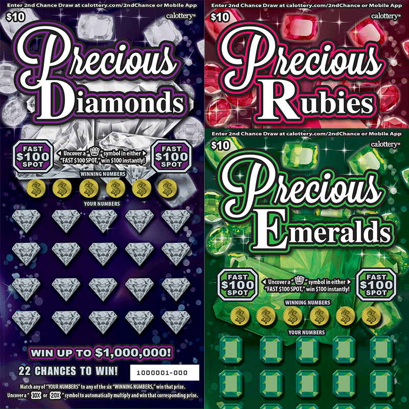 $10 Precious Jewels unscratched tickets