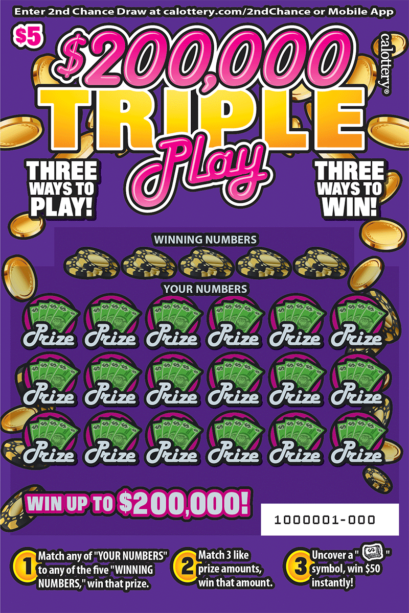 $5 $200,000 Triple Play unscratched ticket