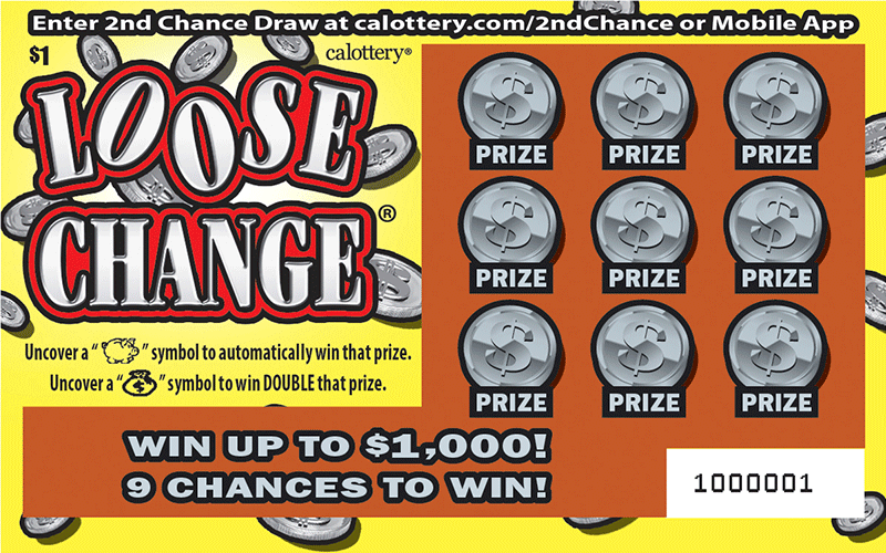 $1 Loose Change unscratched ticket