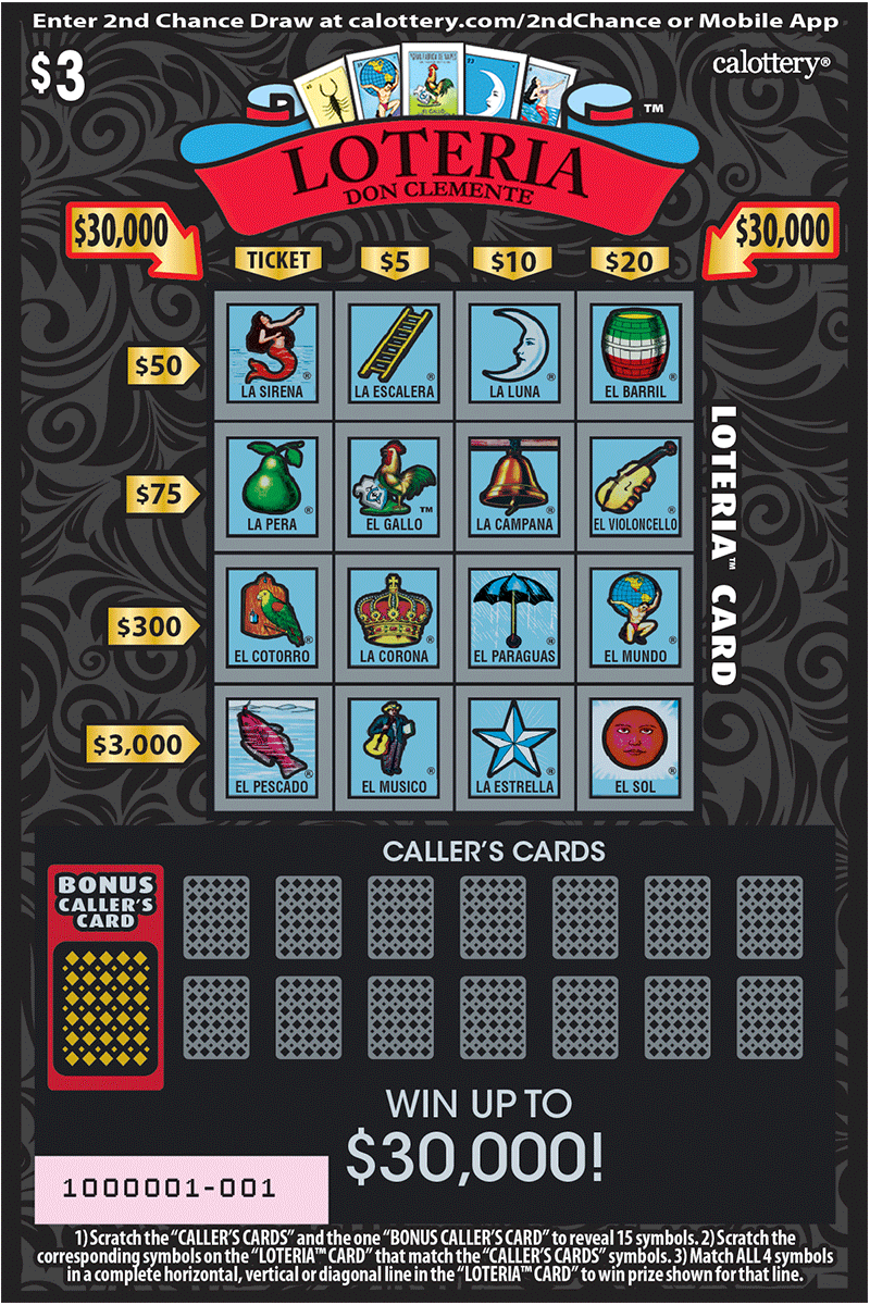 $3 Loteria unscratched ticket