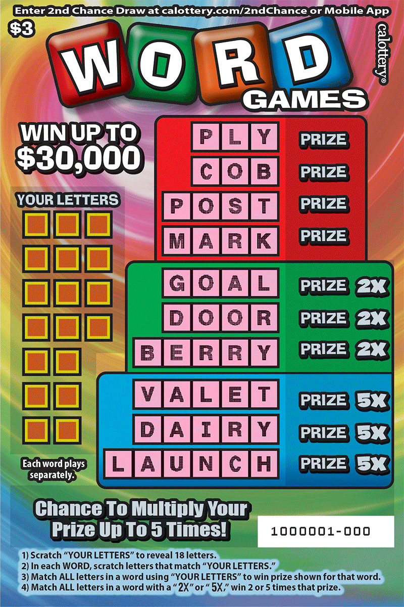 Unscratched $3 Word Games Scratchers