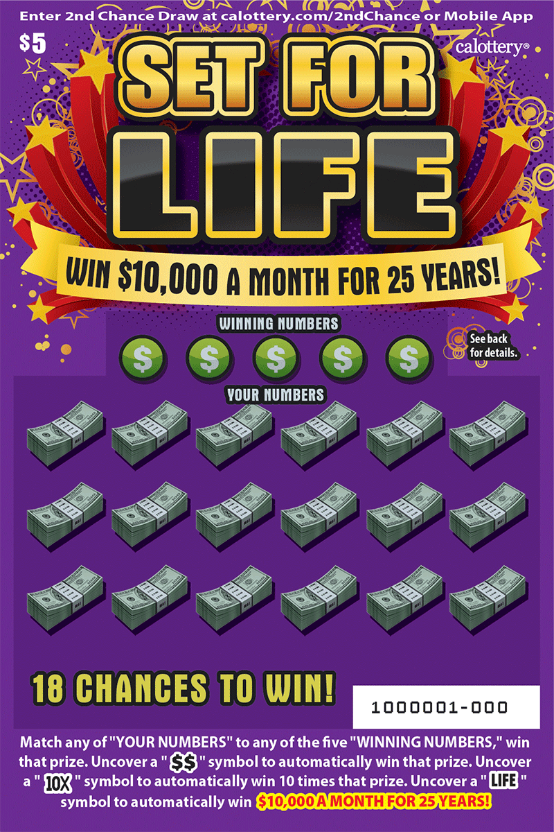 $5 Set for Life Word Games Scratchers