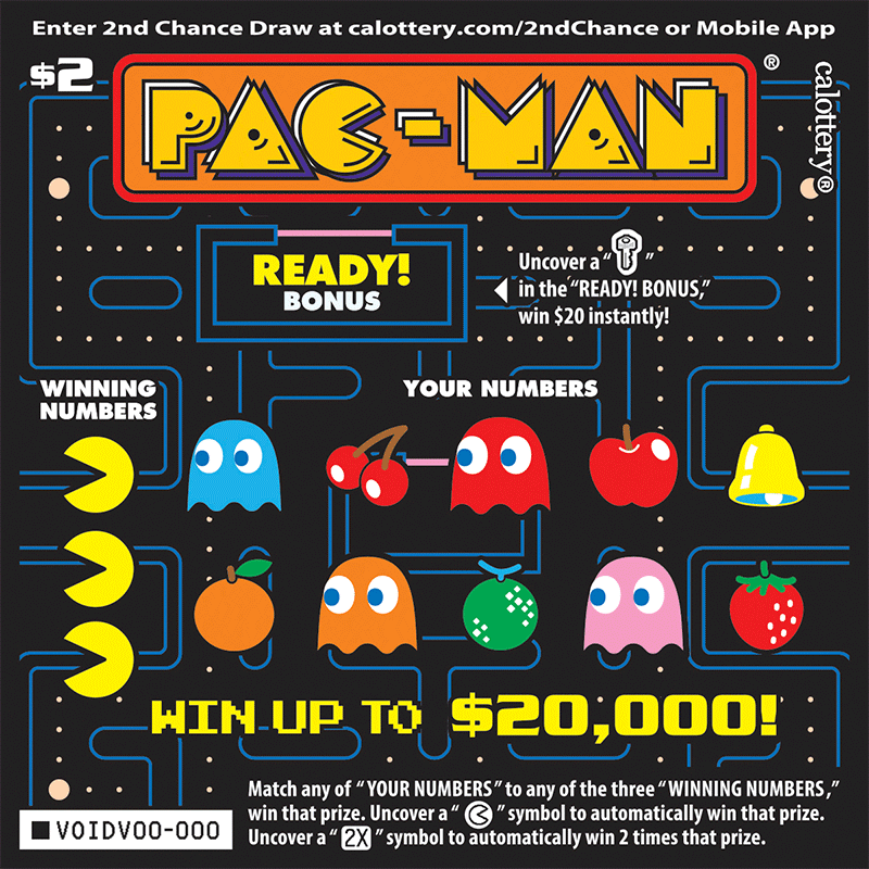 Unscratched $2 Pac-Man game #1405