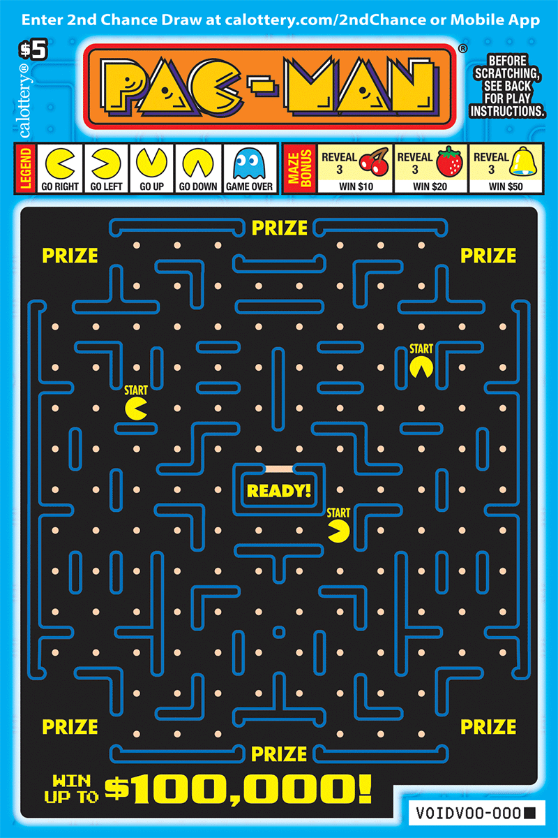 $5 PAC-MAN 1406 unscratched ticket