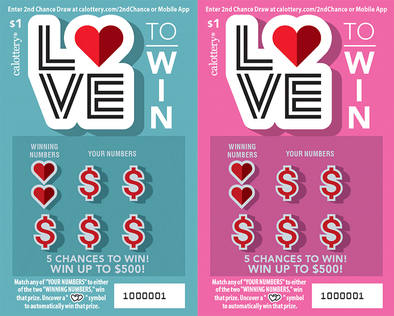 $1 Love to Win unscratched ticket