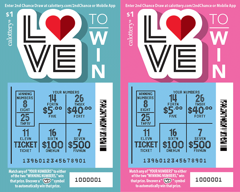 $1 Love to Win scratched ticket