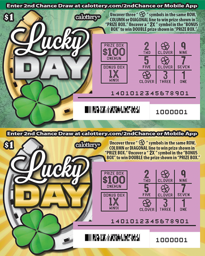 $1 Lucky Day scratched ticket