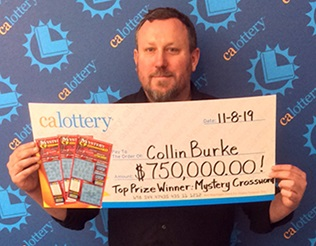 Colin Burke - winner of $750,000
