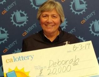 Deborah from Fresno won $20,000