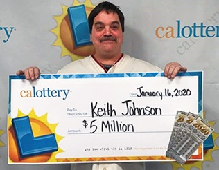 Keith Johnson, winner of $5 million
