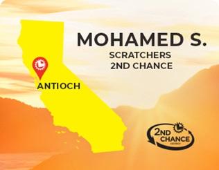 Scratchers 2nd Chance winner of $25,000 Mohamed S. of Antioch
