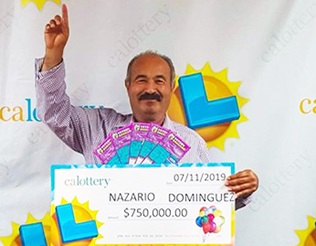 Nazario Dominguez winner of $750,000