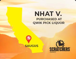 Nhat V. of Suagus, scratchers winner of 2,000,000