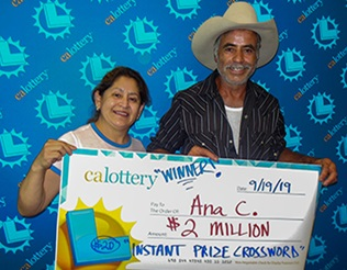 winner  of $2,000,000 - Ana Calderon