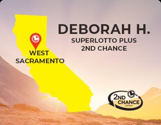 Deborah H. from West Sacramento, 2nd Chance winner of $15,000
